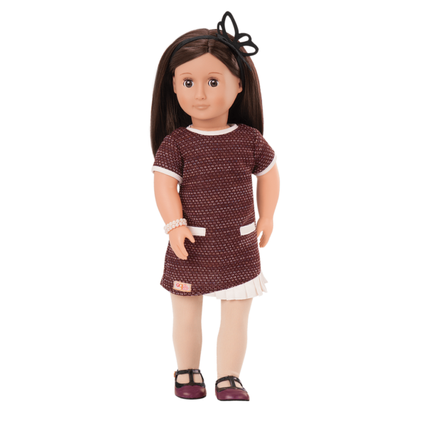 June 18-inch Retro Doll with Vintage Dress