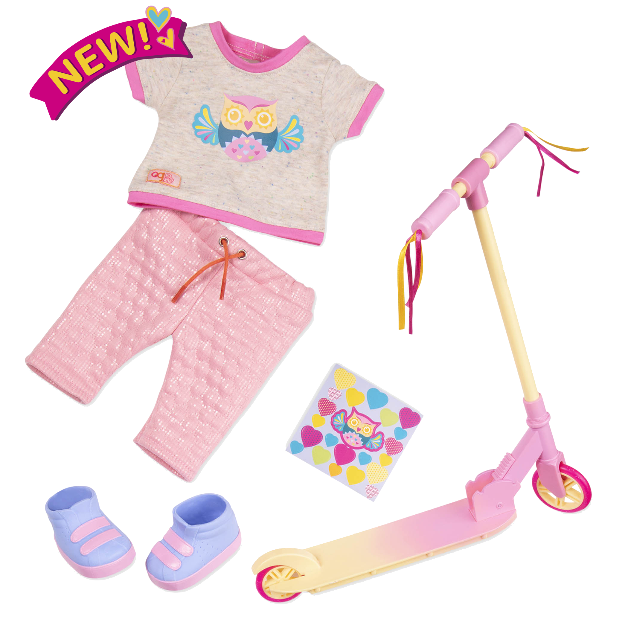 Owl Be Cruisin Deluxe Scooter Outfit for 18-inch Dolls