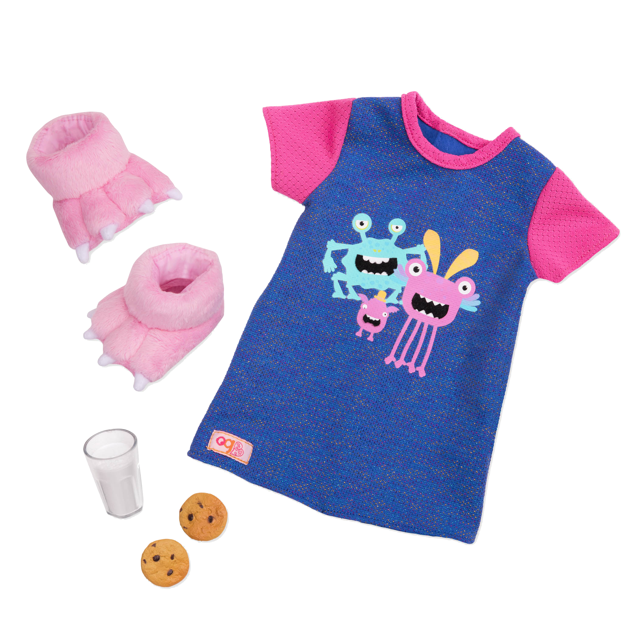 Snuggle Monster Pajama Outfit for 18-inch Dolls