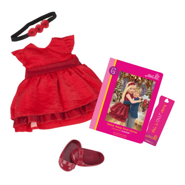 Ginger Read & Play - Outfit and Book Set for 18-inch Dolls