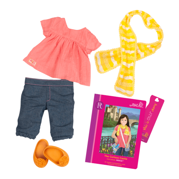 Reese Read & Play - Outfit and Book Set for 18-inch Dolls