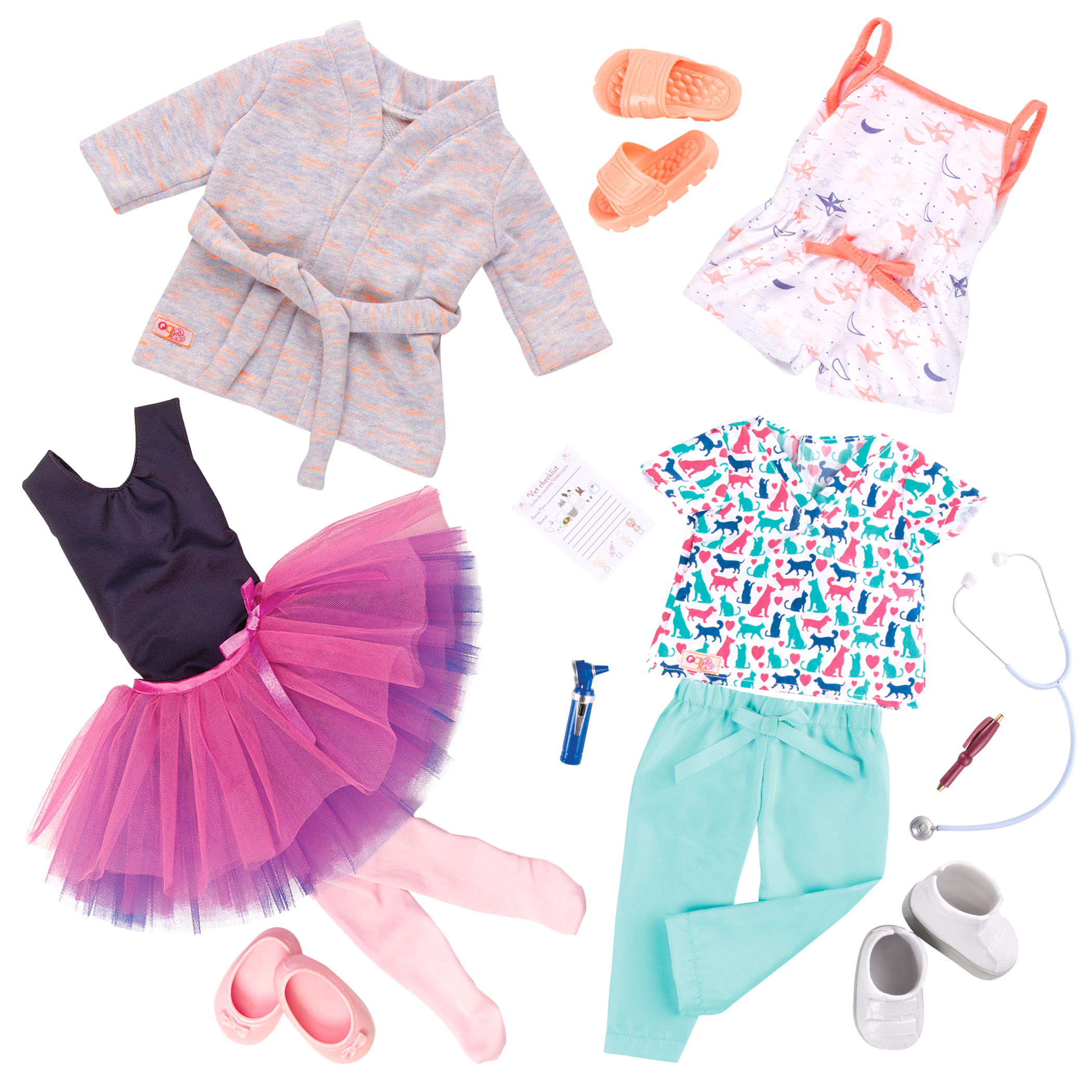Work Dance Sleep Outfit Bundle all components