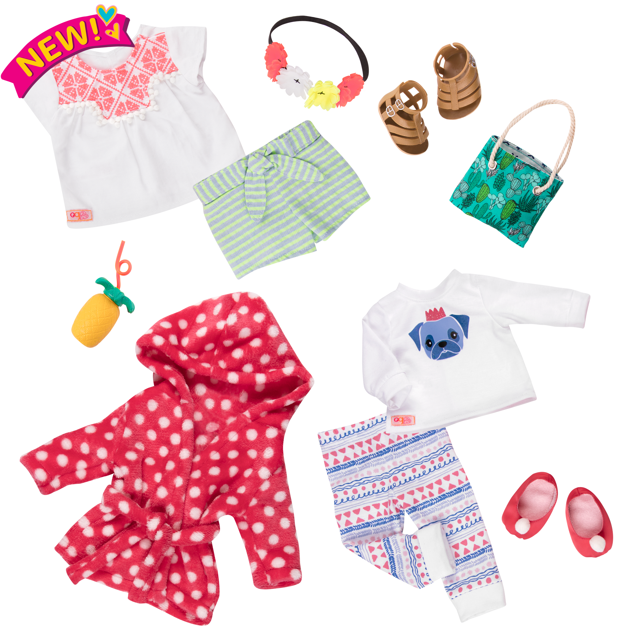 Cuddles and Fun outfit bundle all components
