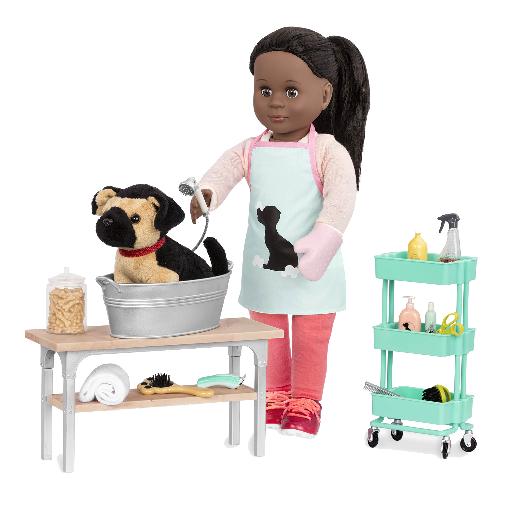 German Shepherd Pup with Meagann and pet grooming set02