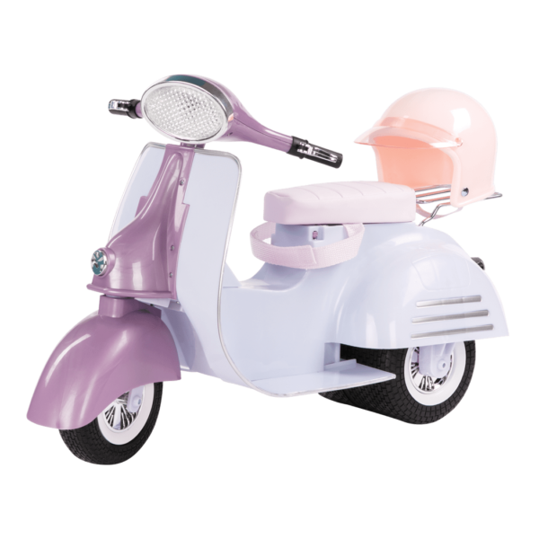 Purple and Blue Ride in Style Scooter for 18-inch Dolls