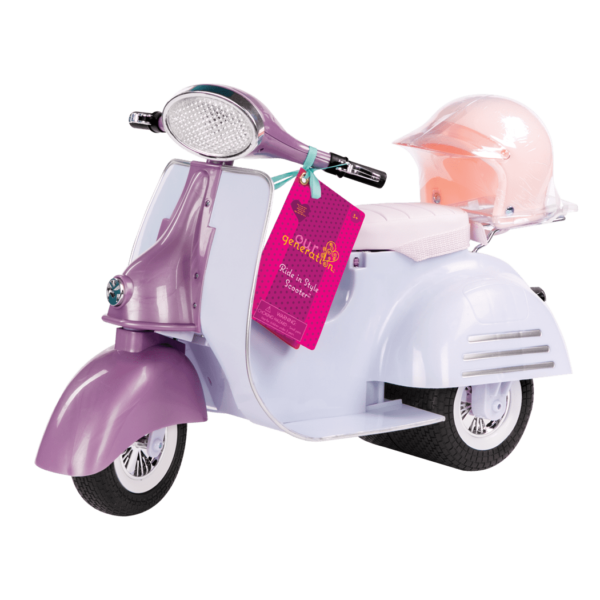 Purple and Blue Ride in Style Scooter package02