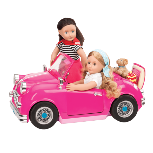 Alice and Willow driving the In the Driver's Seat Retro Cruiser