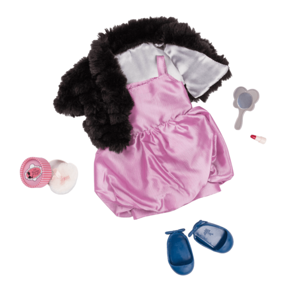 Glamour Buff Deluxe Retro Outfit for 18-inch Dolls