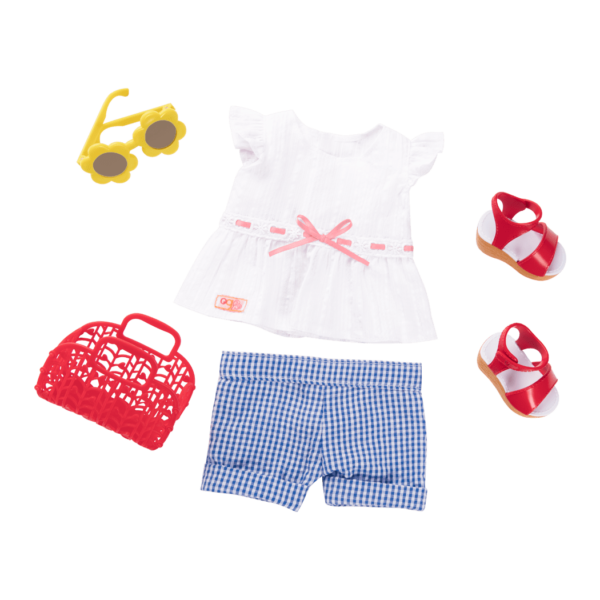 Summer Market Retro outfit for 18-inch Dolls