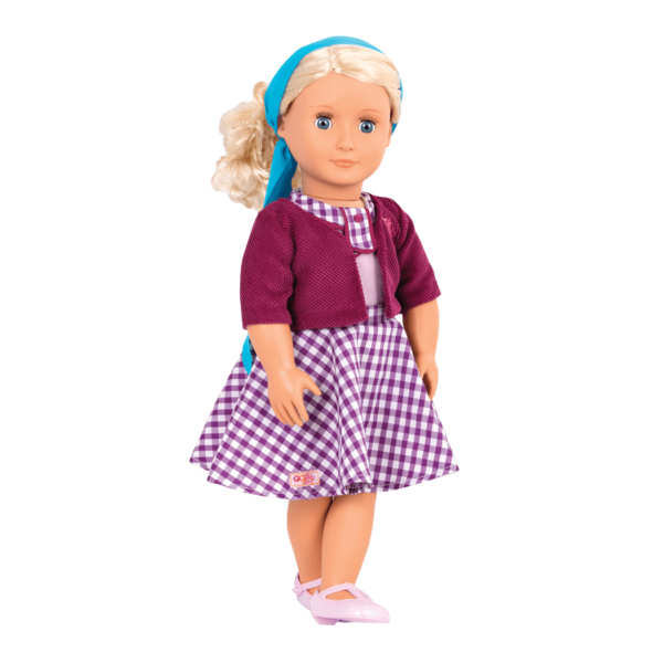 Sweet Memories gingham Dress Steffie wearing outfit