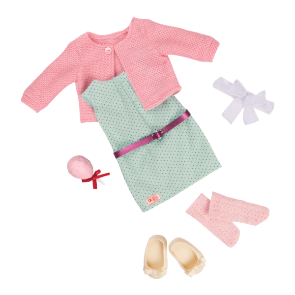 Country Fair - Posh Pink Retro Outfit for 18-inch Dolls