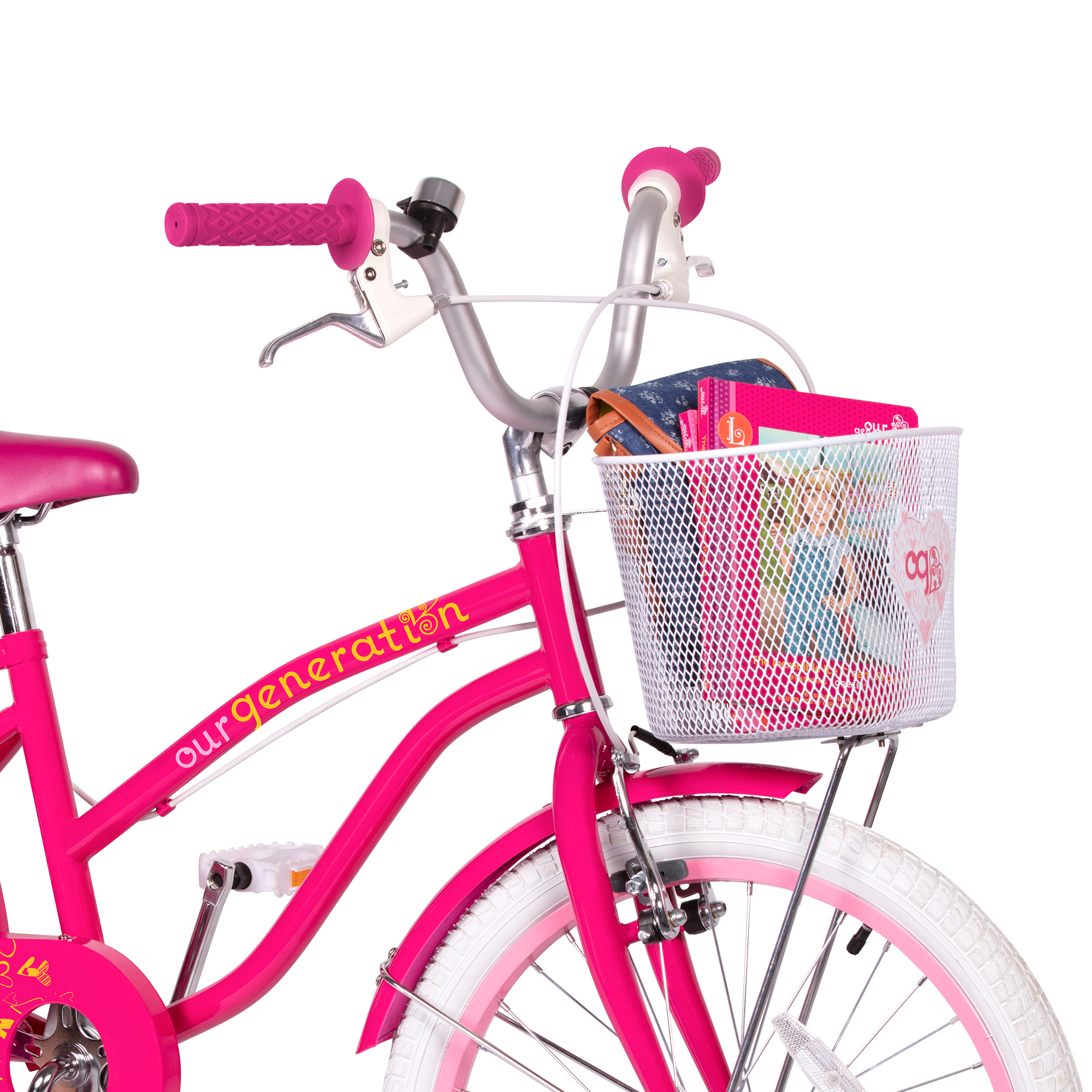 OG Bicycle for kids front basket holding books02