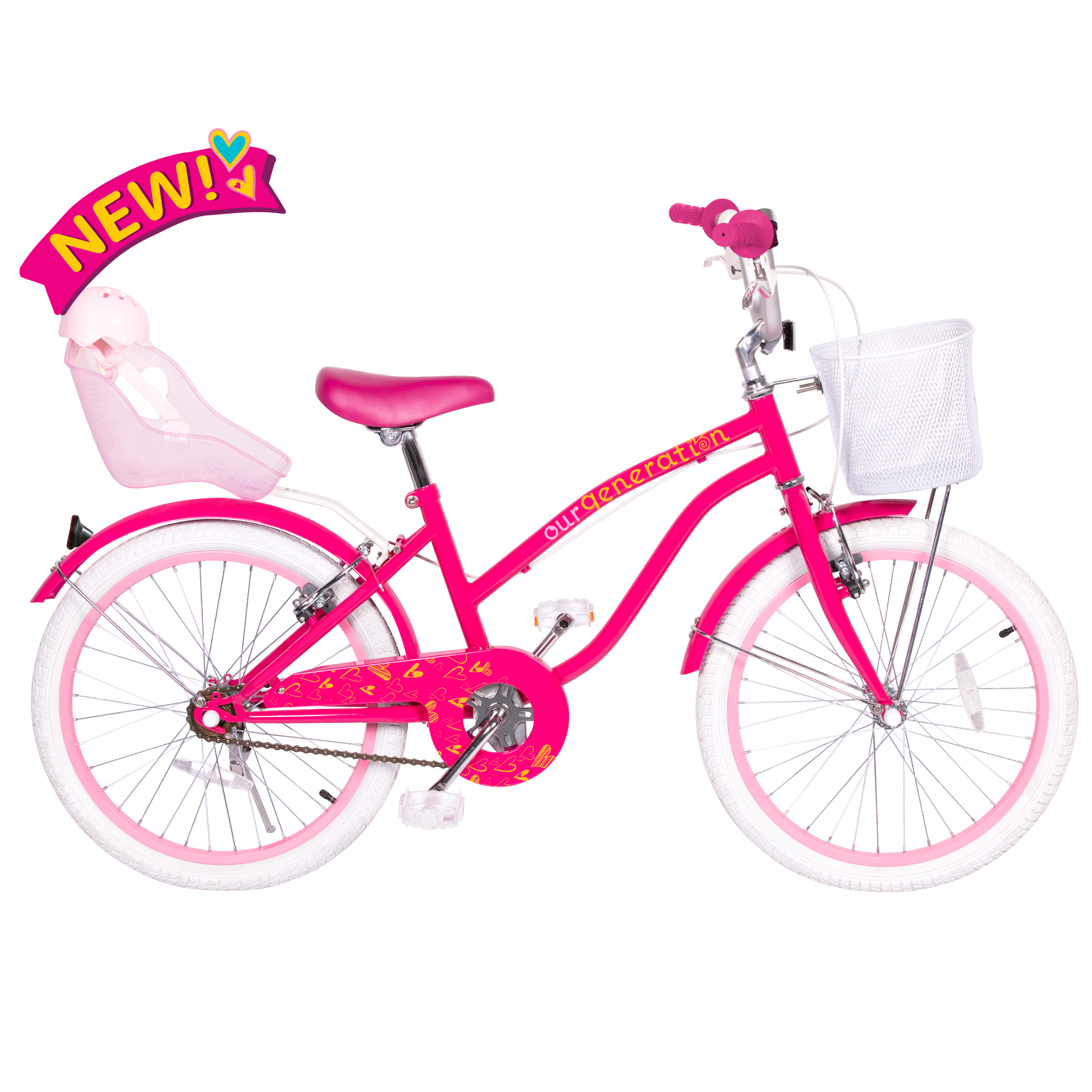 OG Bicycle 20-inch Kids Bike with Doll Seat