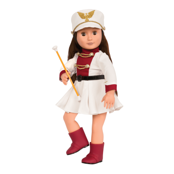 Marching Band Retro Outfit Clothes School Music Accessories for 18-inch Dolls