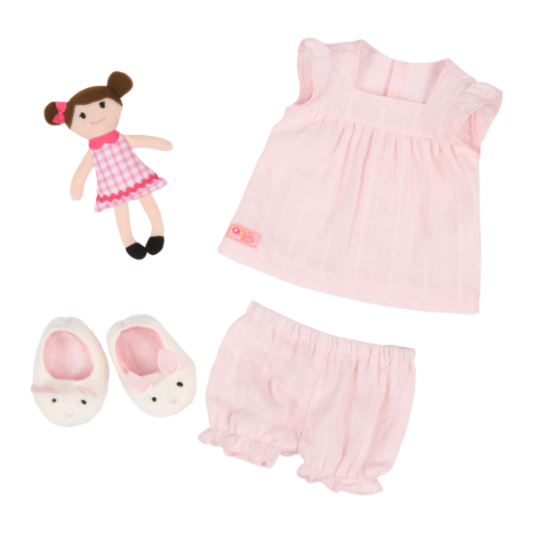 Pajamarama Retro Sleepwear outfit for 18-inch Dolls