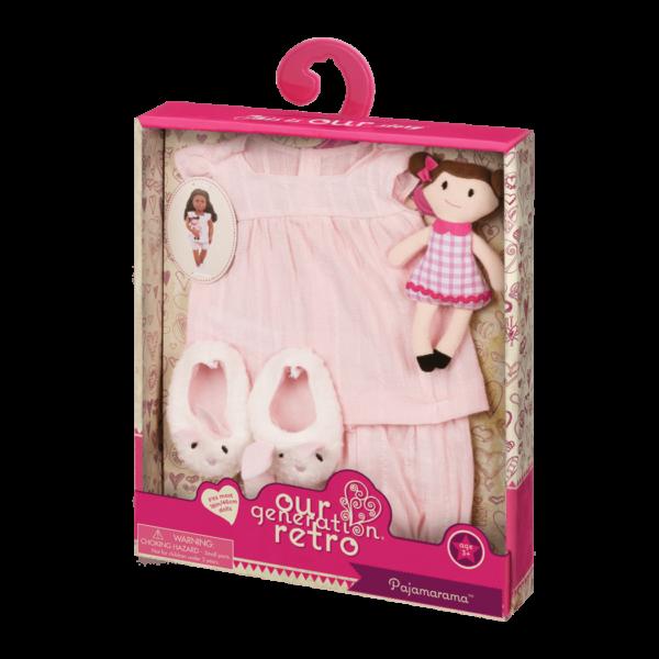 Pajamarama Retro Sleepwear outfit for 18-inch Dollspackage