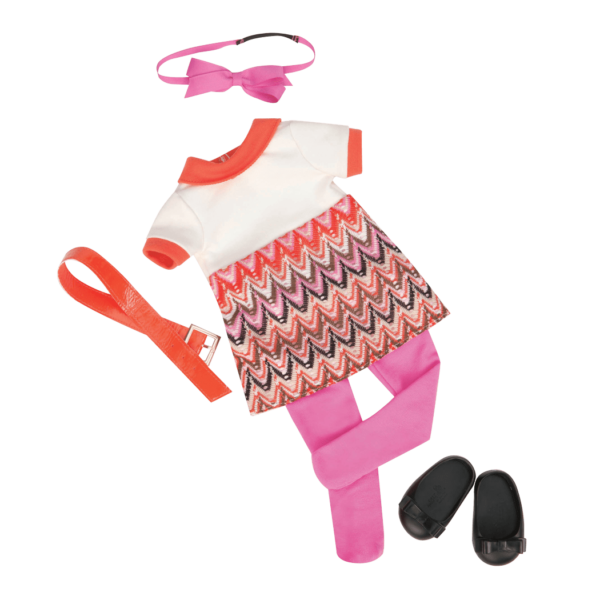 Neat-O Knit Retro outfit for 18-inch Dolls