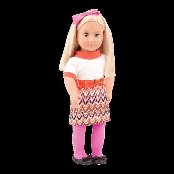 Anya wearing Neat-O Knit Retro outfit
