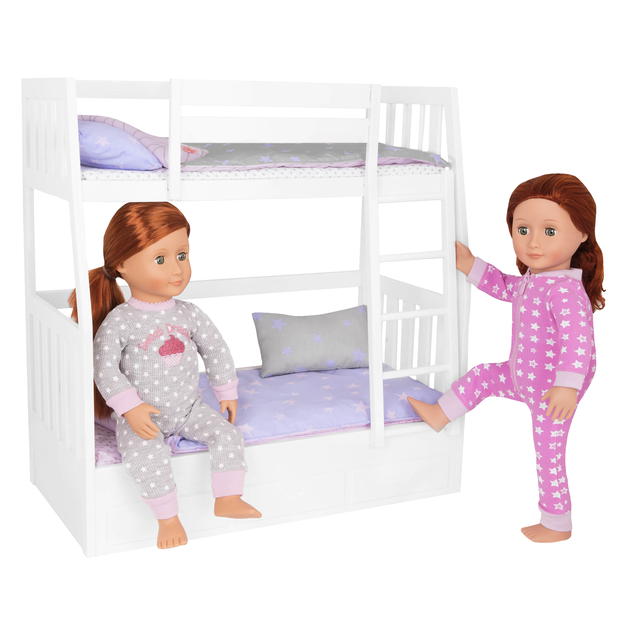 Dream Bunks Bed Set with Sia and Sabina in bed