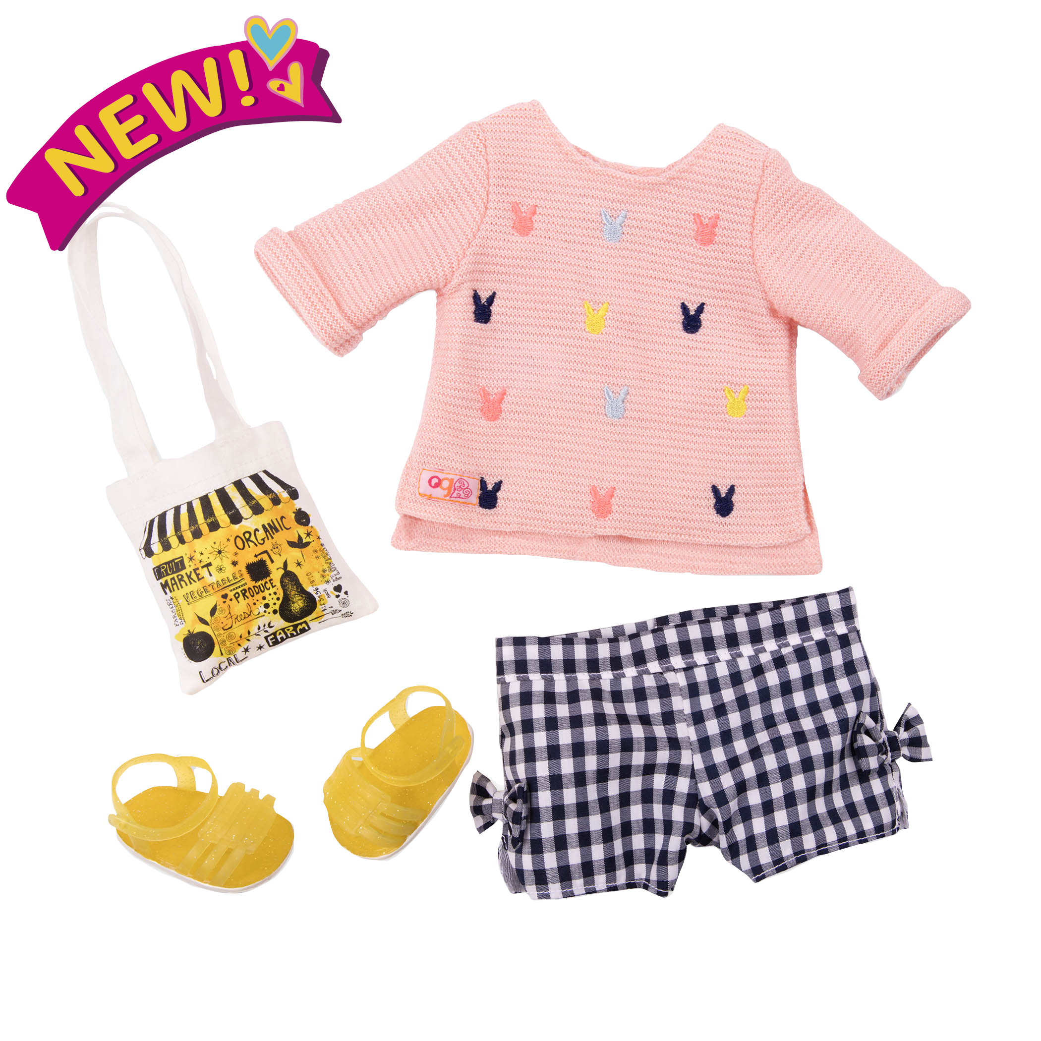 Market Day Summer Outfit for 18-inch Dolls