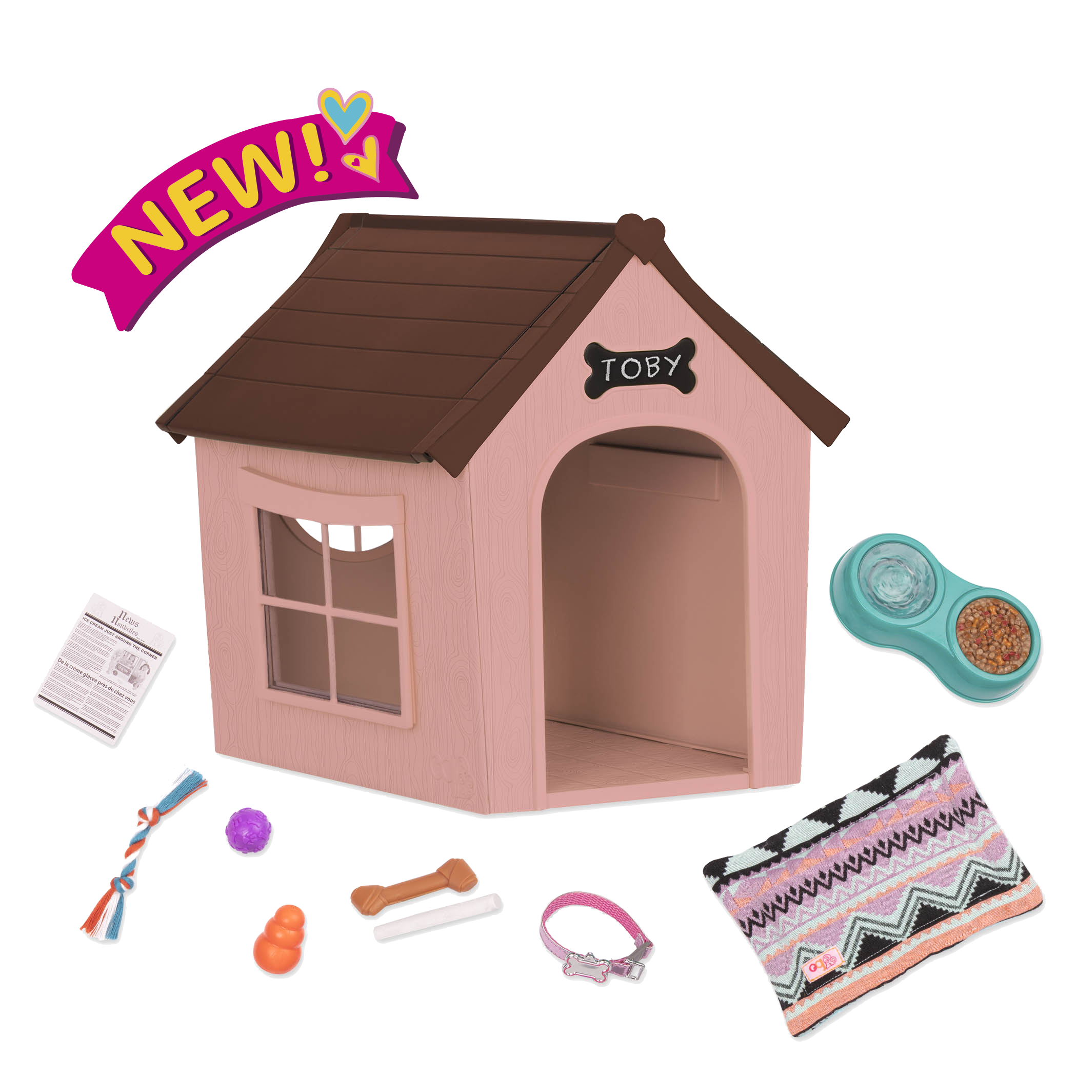 OG Puppy House - Dog House Accessory Set for Dolls
