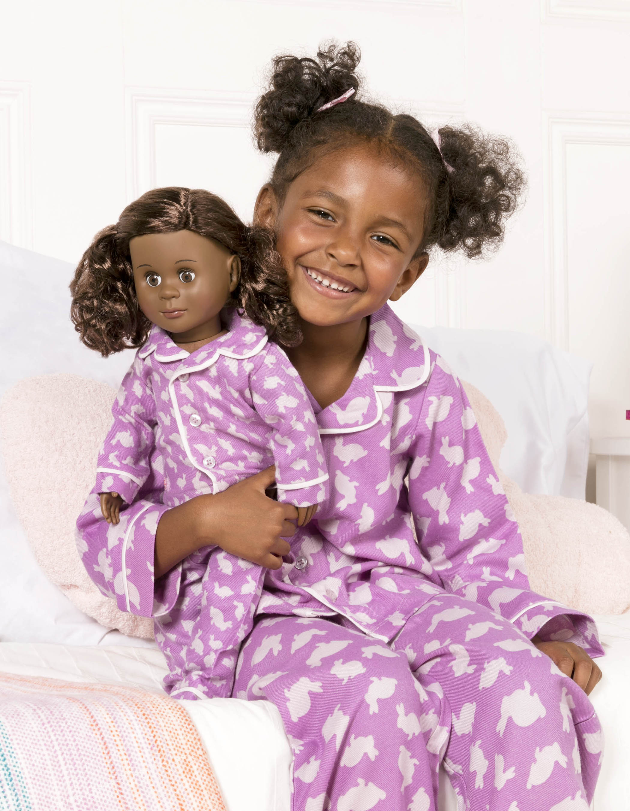 Me and You Bunny pajamas in macthing sizes for kids and dolls!