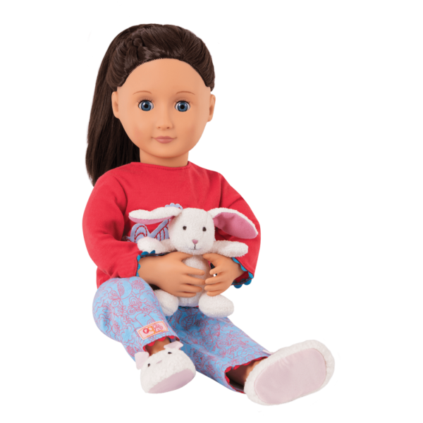 Meet Willow, a deluxe doll with a storybook all about sleepovers!