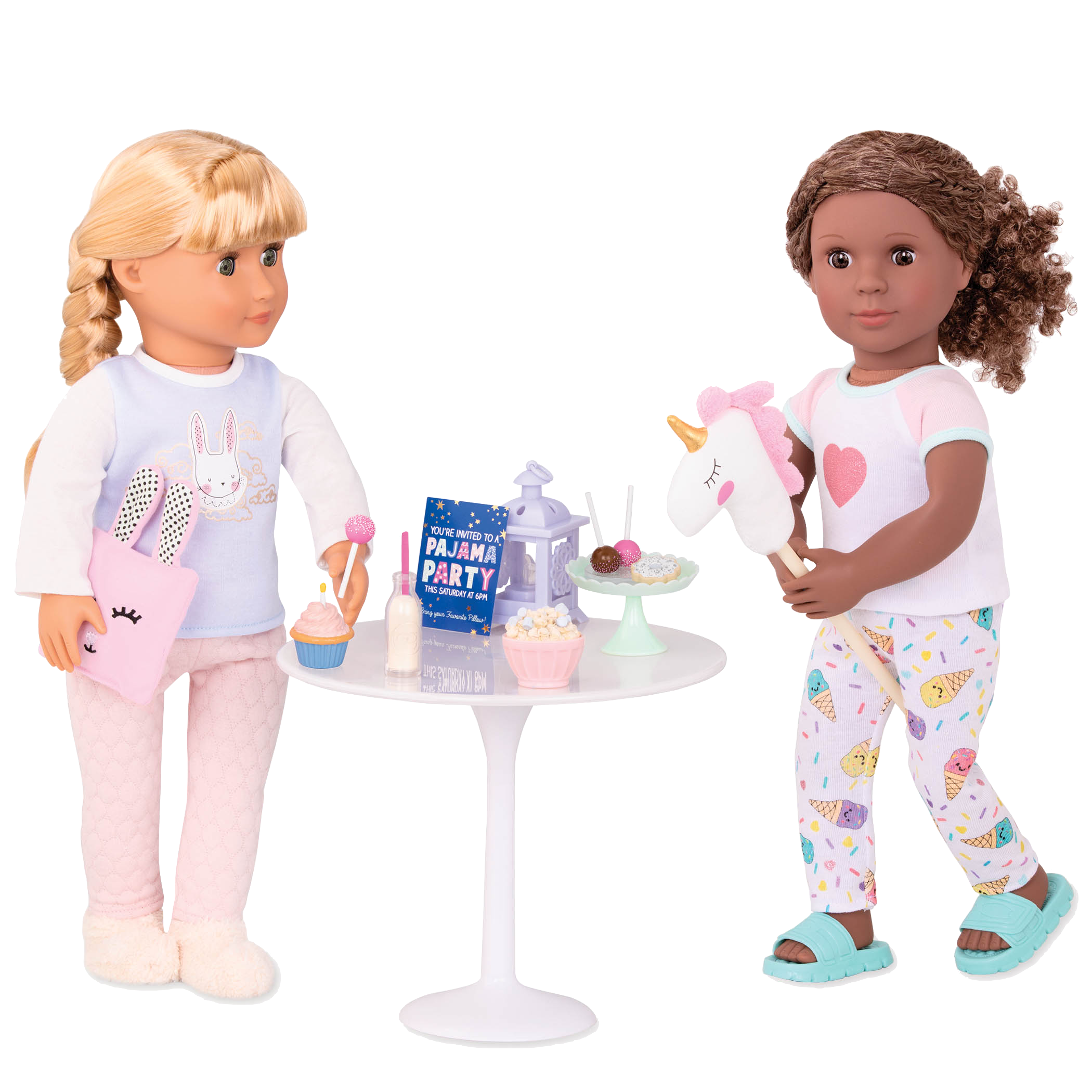 Having a unicorn at your slumber party is so much more fun!