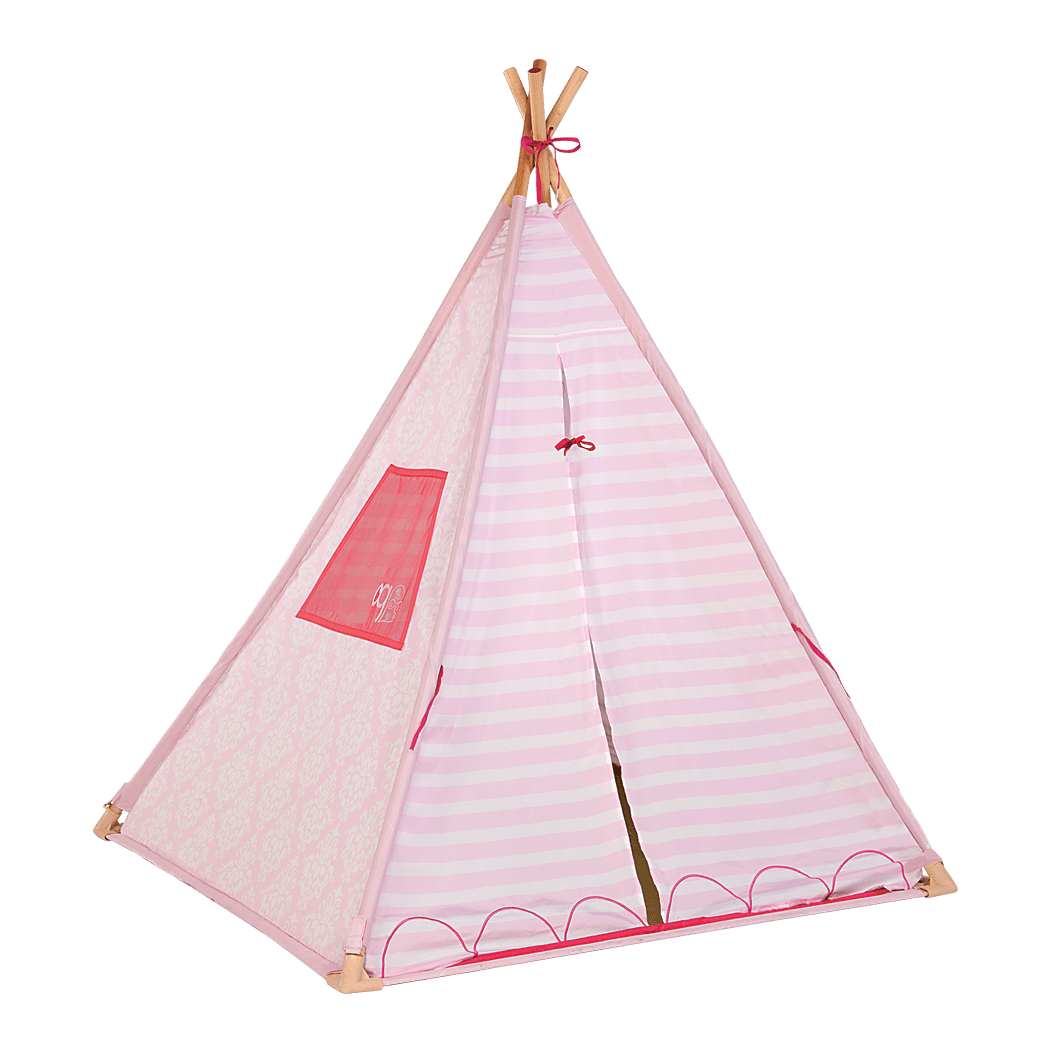 Suite Teepee- Pink Stripes with doors closed