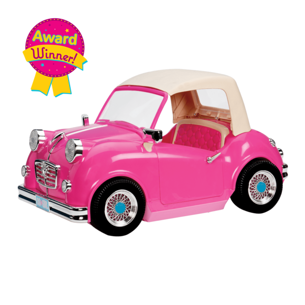 In the Driver's Seat Retro Cruiser Convertible for 18-inch Dolls