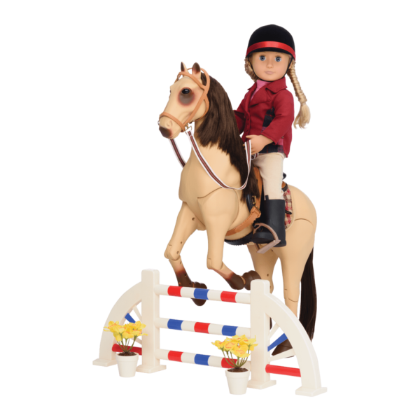 Lily Anna riding Morgan Horse over jump