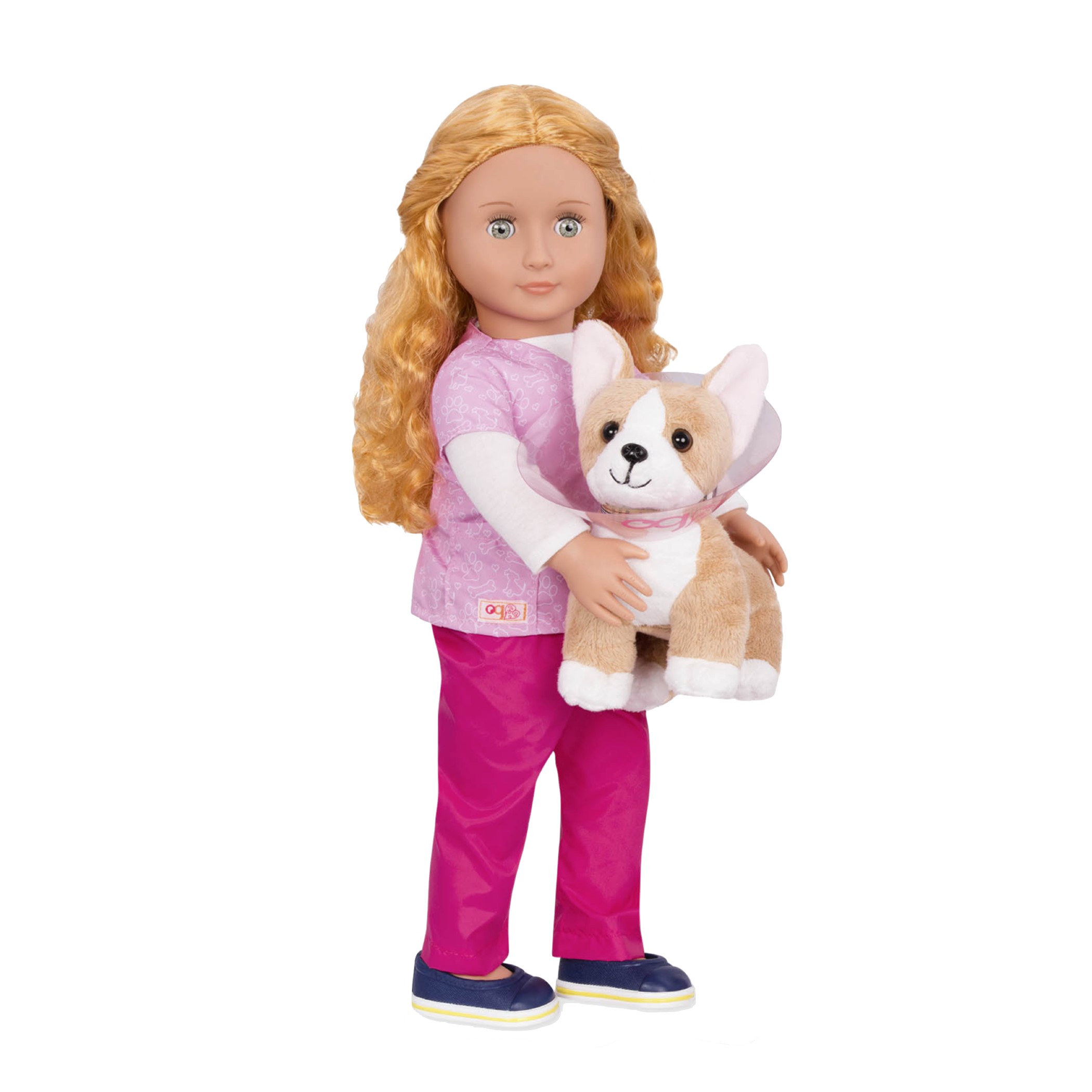 Anais Vet Doll with Corgi Pup