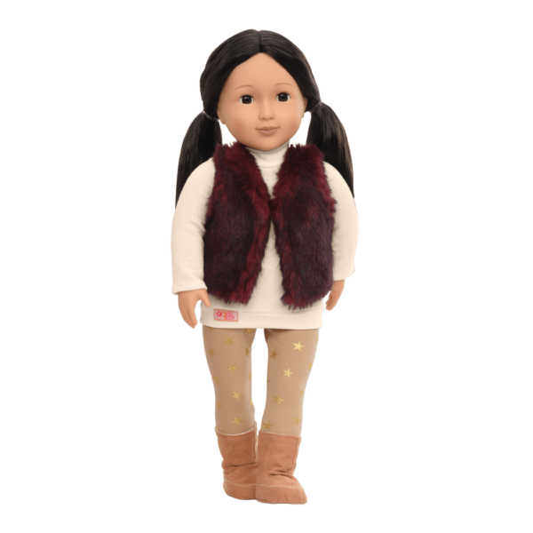 Tamaya 18-inch Doll with Fur Vest