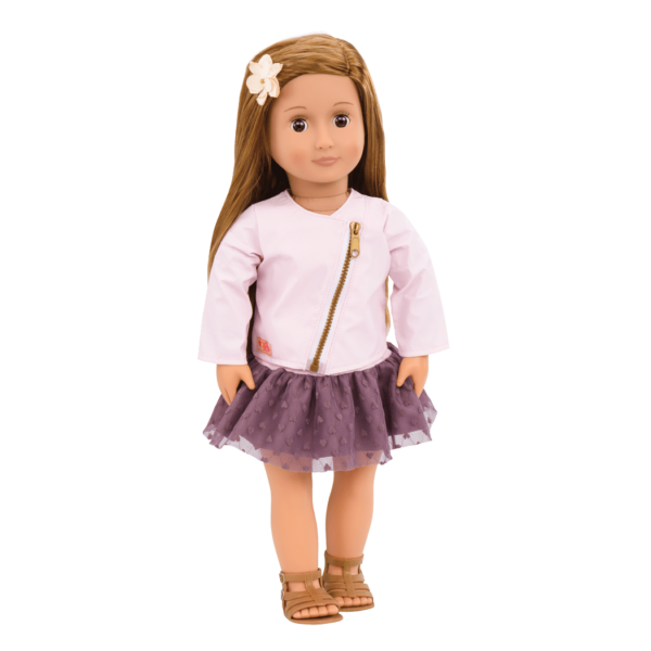 Vienna 18-inch Doll with Moto Jacket