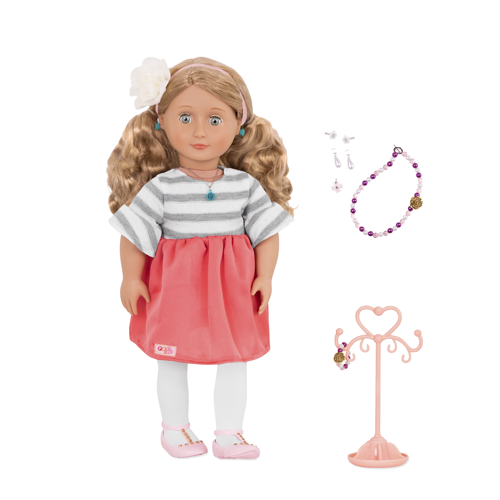 Aileen 18-inch Jewelry Doll with Earrings