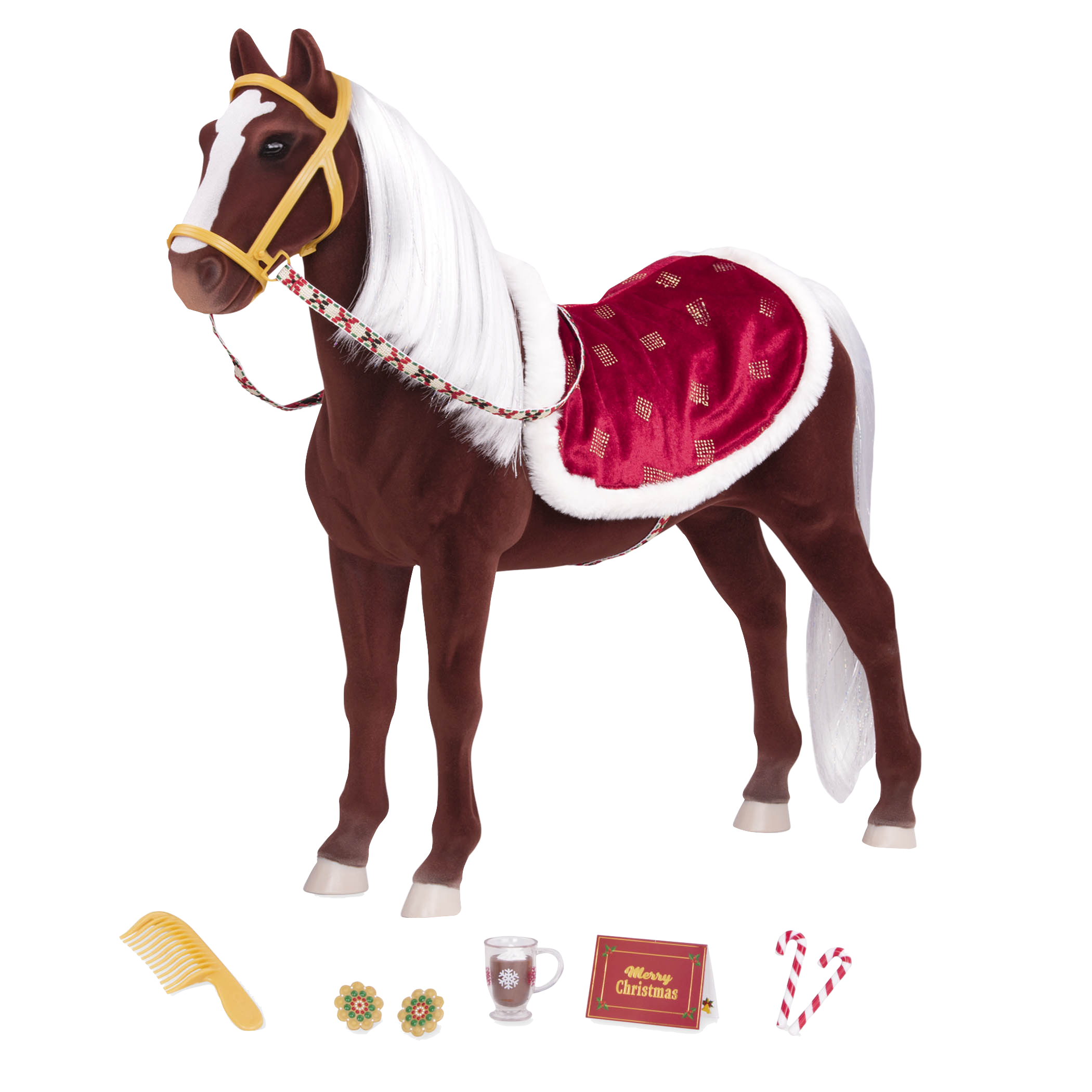 """Our Generation Winter Wonder Christmas Holiday Horse for 18/"""" American Girl Dolls"""