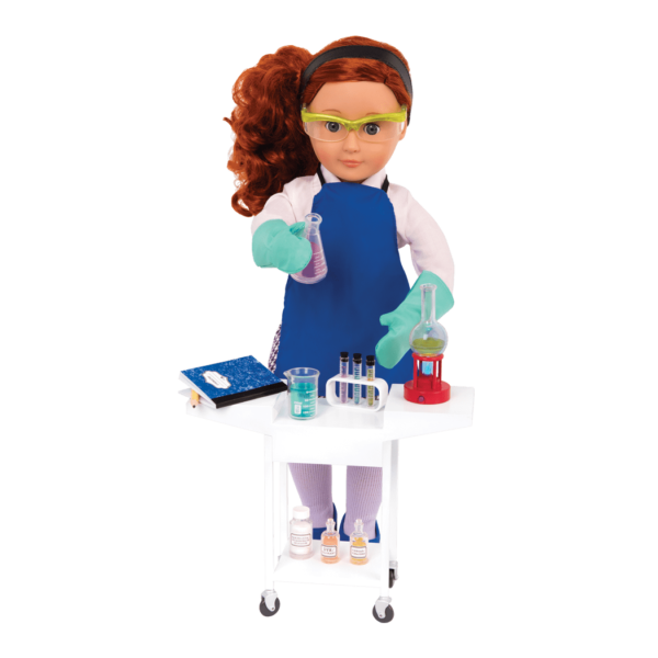 OG Schoolroom Science Lab  with Sia holding flask at workbench0