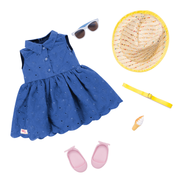 Heart of Summer Outfit for 18-inch Dolls