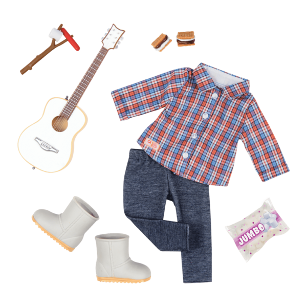 Campfire Cutie Deluxe Camping Outfit for 18-inch Dolls