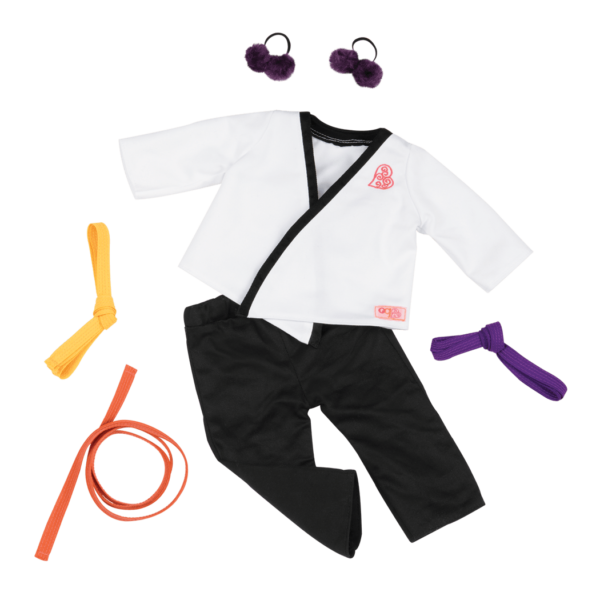 Karate Kicks Outfit for 18-inch Dolls