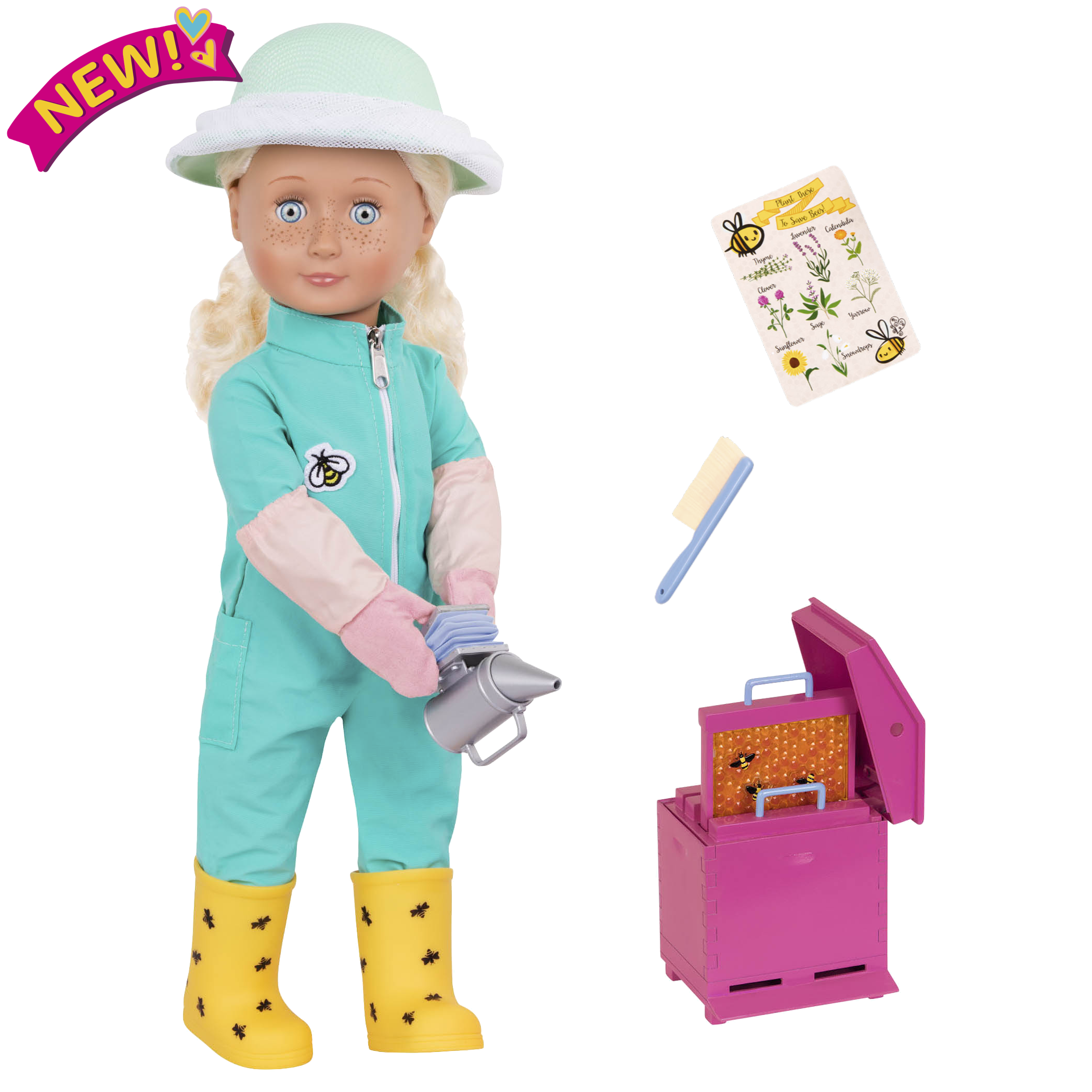 Cassidy 18-inch Beekeeper Doll