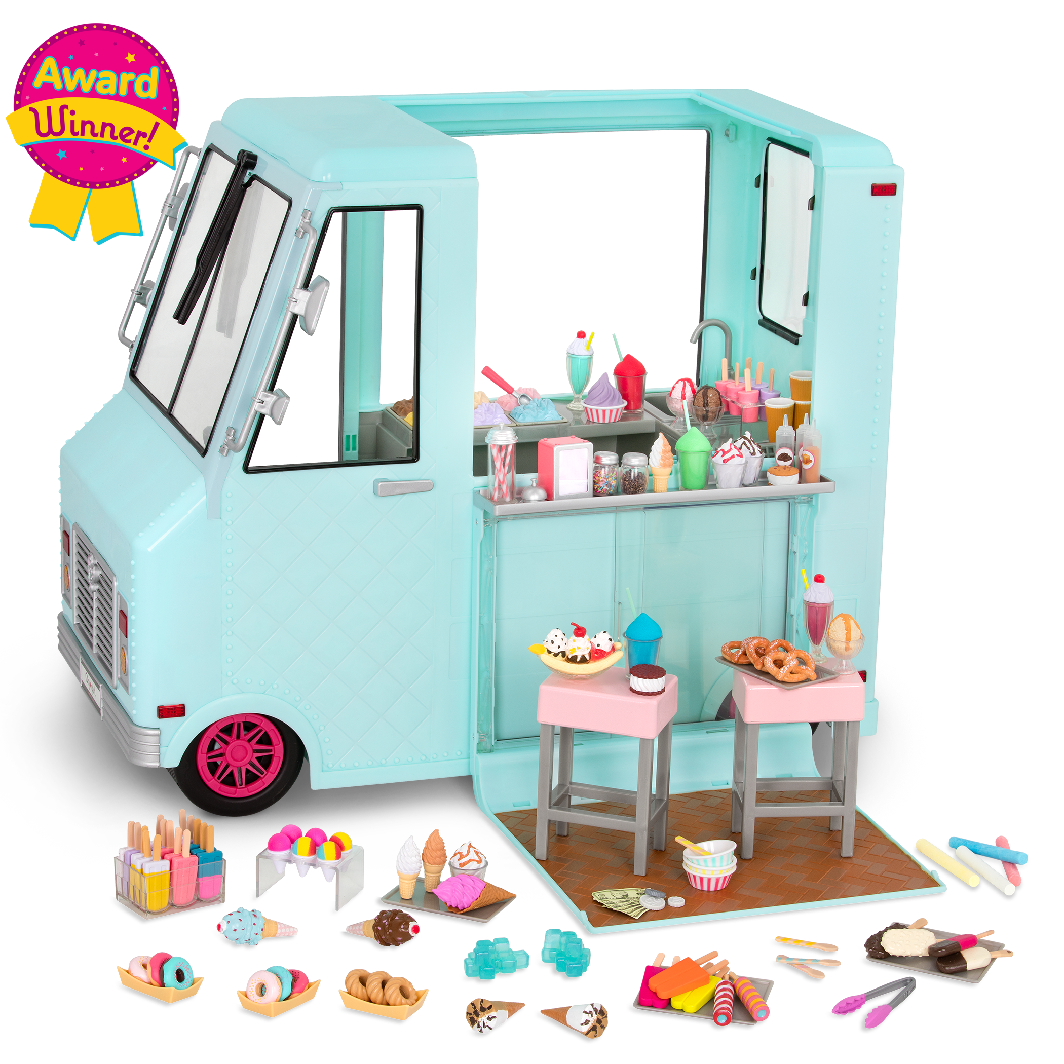 Sweet Stop Ice Cream Truck for 18-inch Dolls - Award Winning!