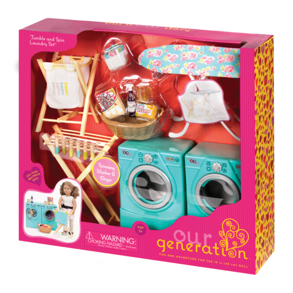 Tumble And Spin Laundry Set 18 Inch Accessory Our