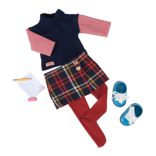 Study Class School Outfit for 18-inch Dolls