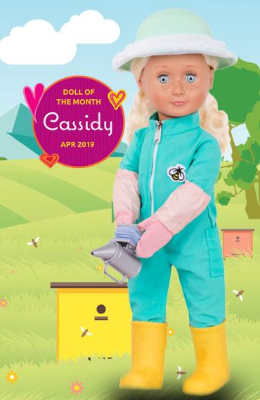 Cassidy wearing her face net