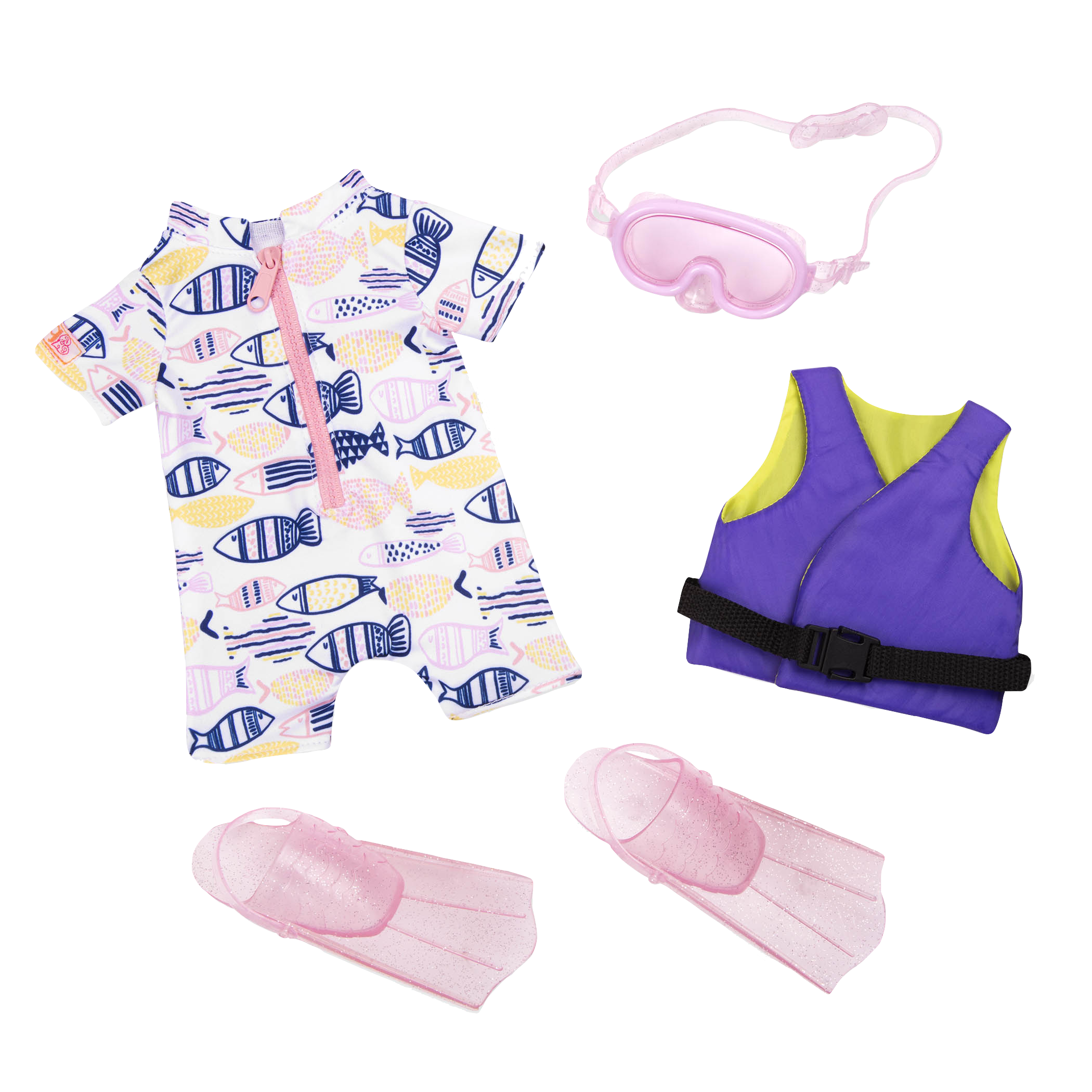 Underwater Wonder Swim Outfit for 18-inch Dolls