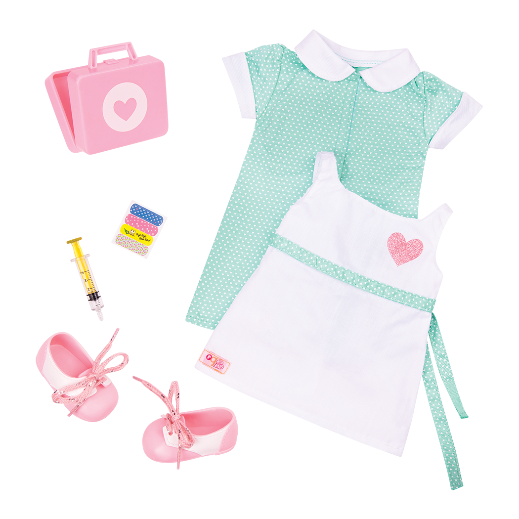 Healing Hearts Retro Nurse Outfit for 18-inch Dolls