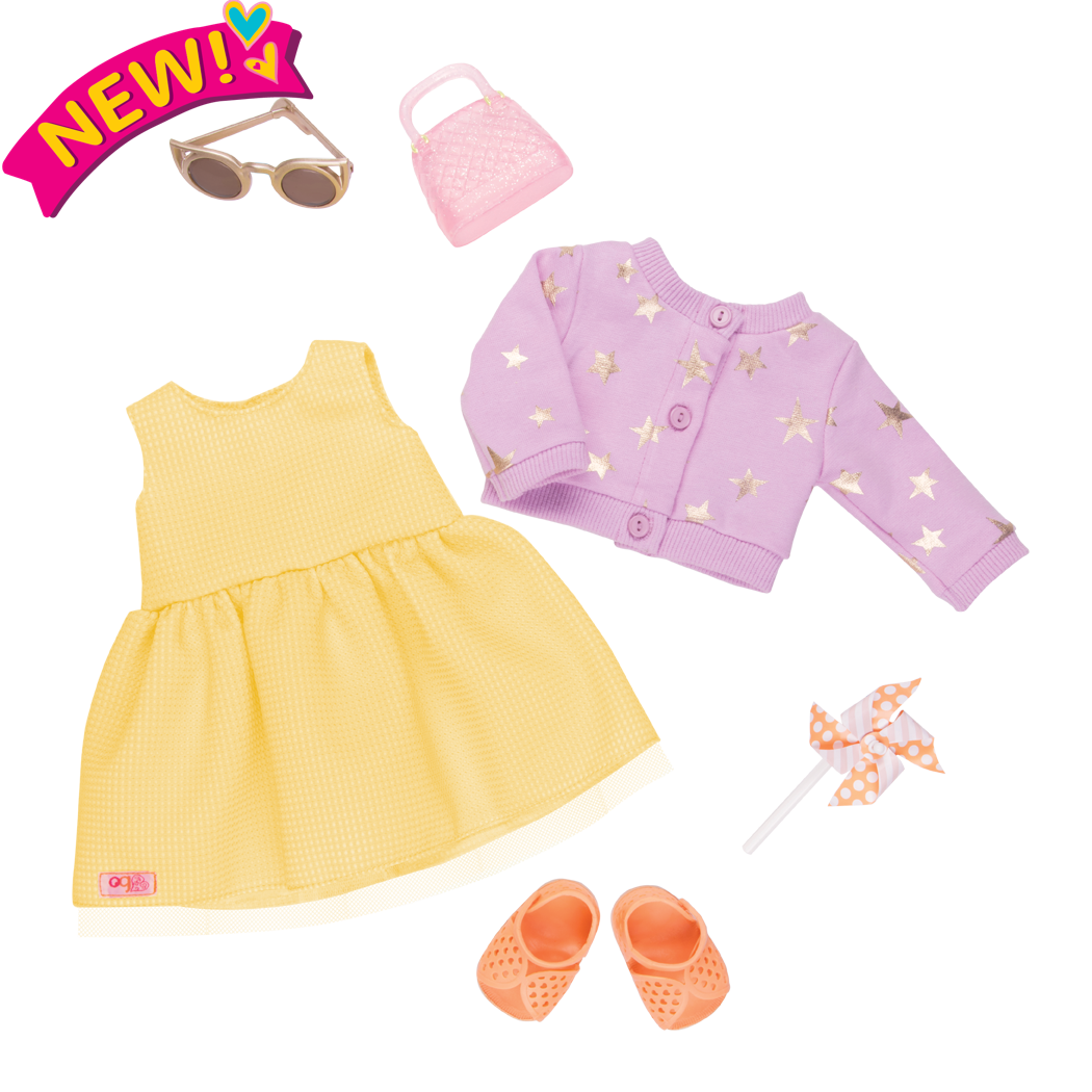 Sunshine and Stars Summer Outfit for 18-inch Dolls