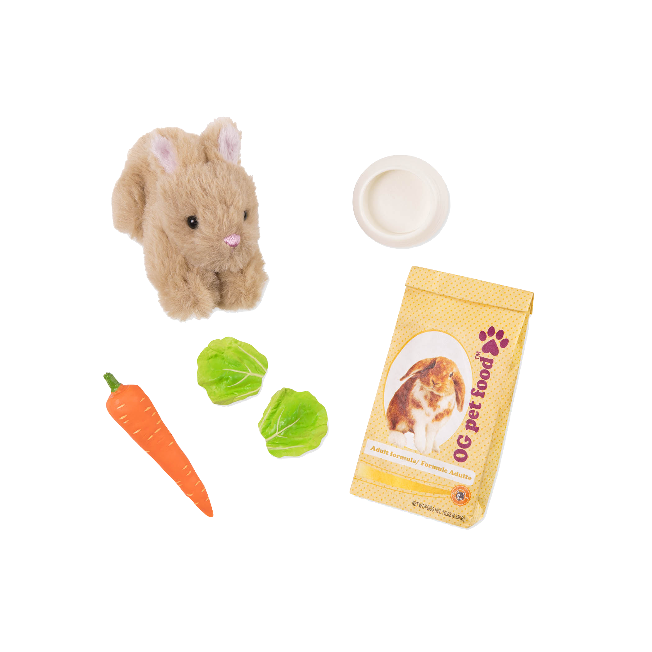Pet Bunny Set for 18-inch Dolls