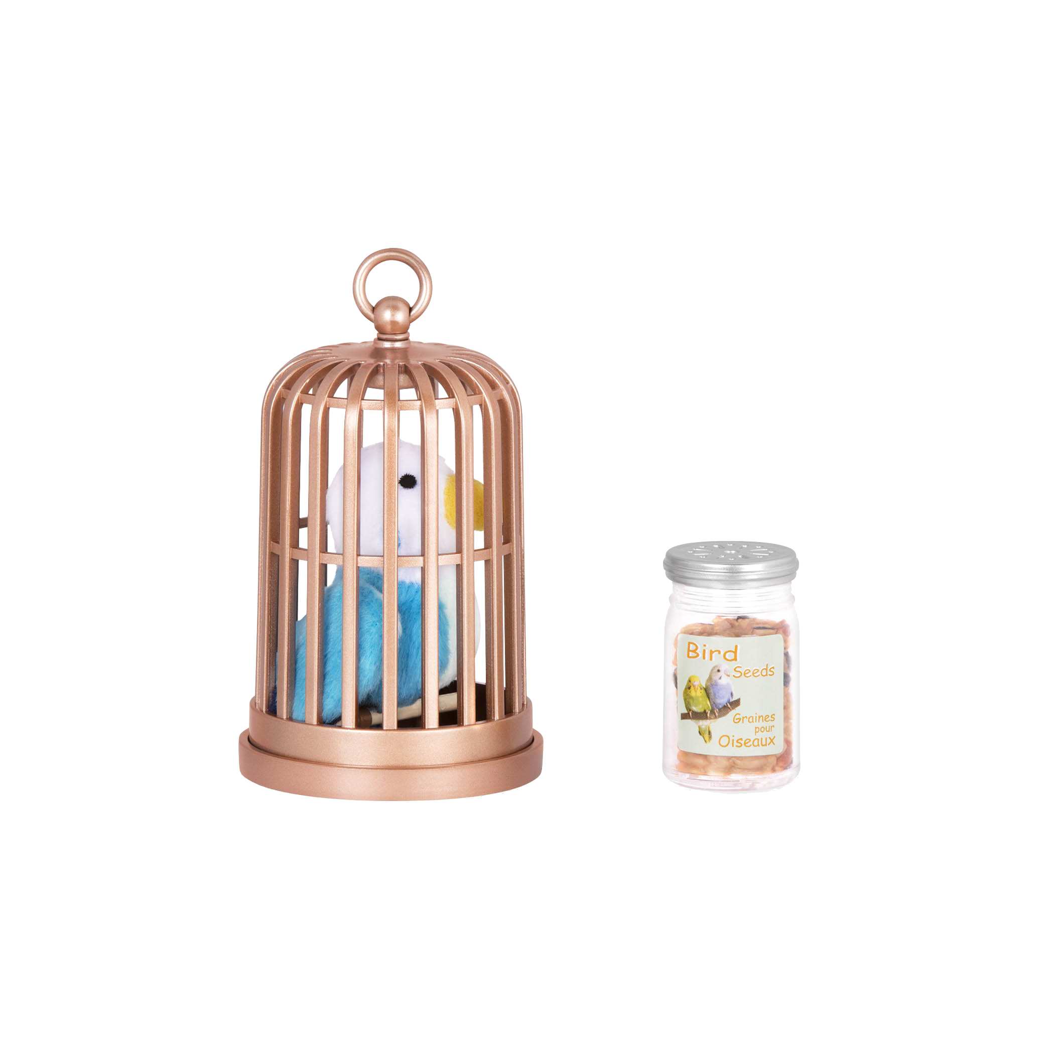 Bird inside cage